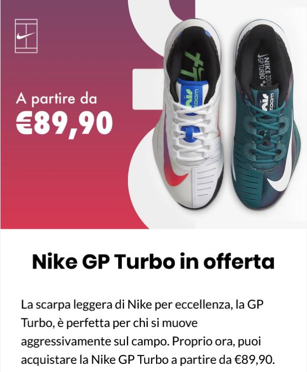 Nike GT Turbo in offerta e sconti fino al 50% su TWE 210902-1